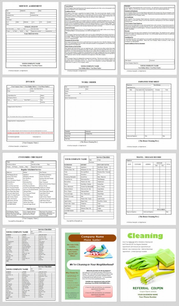 House Cleaning Business Forms