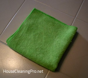 Cleaning with Microfiber Towels