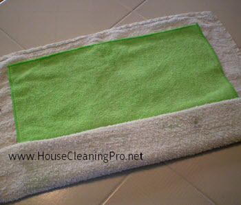 Dusting with Microfiber Cloths