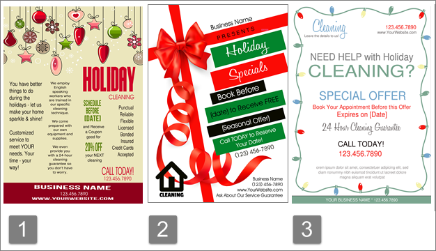 Holiday Cleaning Business Flyers
