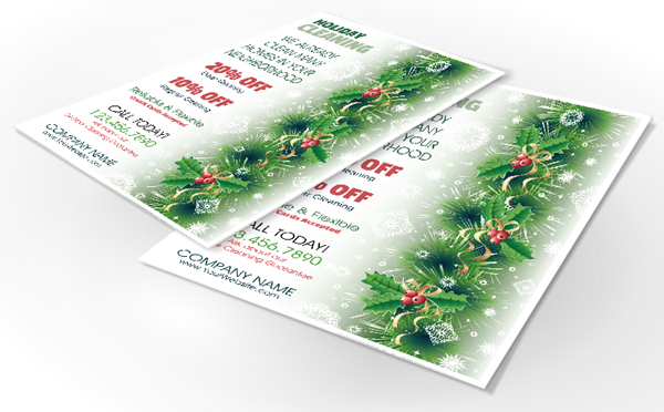 Holiday Residential Cleaning Flyers