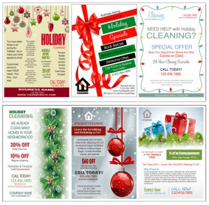 Printable Holiday Cleaning Flyers & Door Hangers Now Available and Ready for You to Customize!